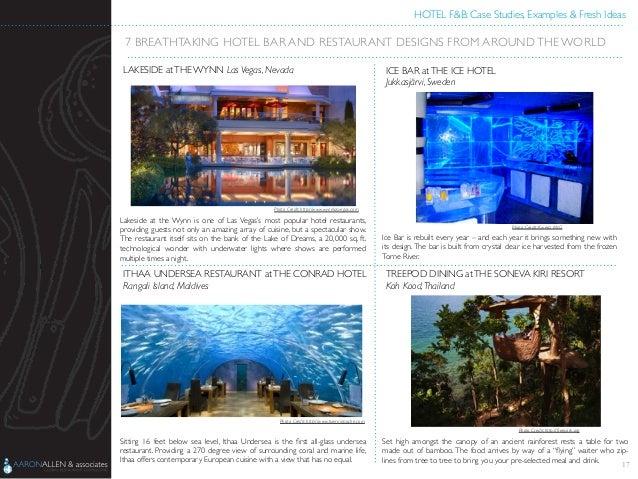Hotel F&B Case Studies, Examples & Fresh Ideas