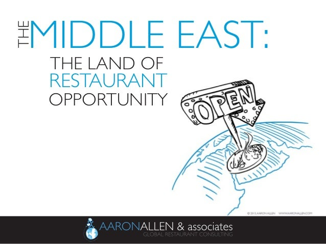 THE LAND OF	    RESTAURANT	  OPPORTUNITY	  	    MIDDLE EAST:	   THE