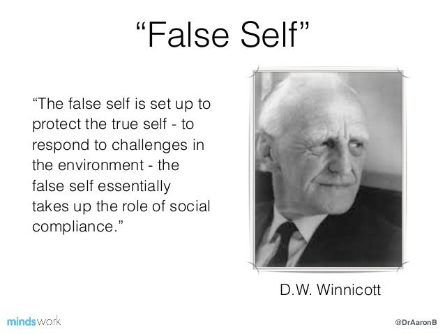 Risultati immagini per true self false self winnicott