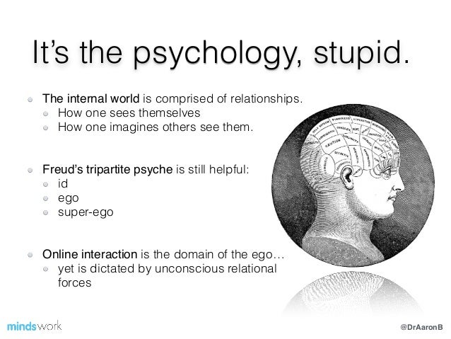 @DrAaronB It's the psychology, stupid. ! The internal world is comprised of relationships. How one sees themselves How one...