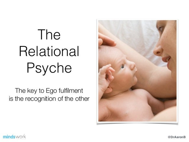 @DrAaronB The Relational Psyche ! The key to Ego fulfilment is the recognition of the other