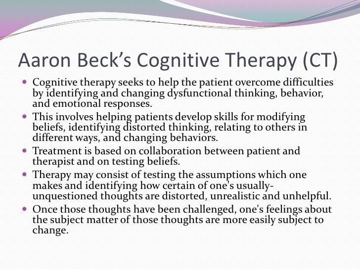 cognitive therapy of depression aaron t beck pdf