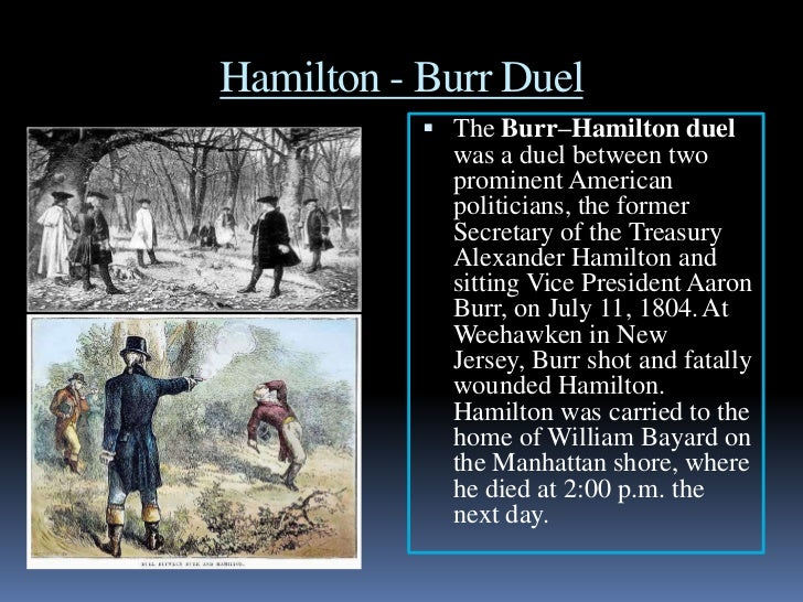 A discussion on the case of the duel between aaron burr and alexander hamilton