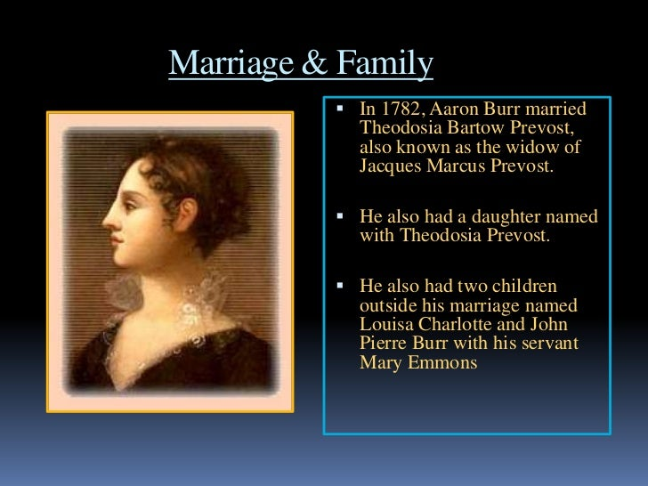 theodosia burr and aaron relationship