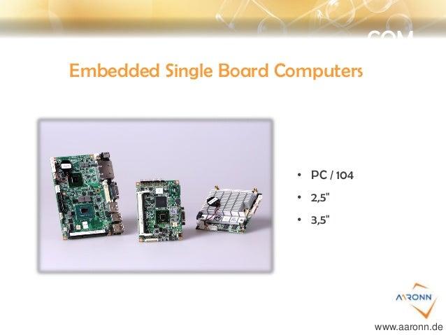 """COM Embedded Single Board Computers • PC / 104 • 2,5"""" • 3,5"""" www.aaronn.de"""