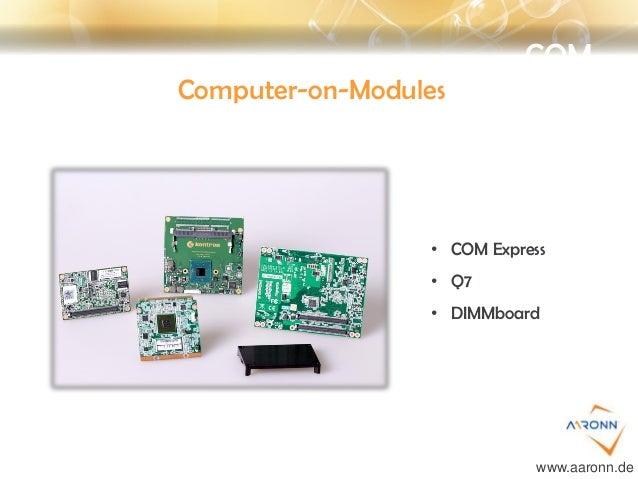 COM Computer-on-Modules • COM Express • Q7 • DIMMboard www.aaronn.de