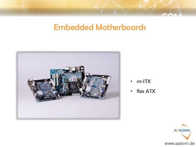COM Embedded Motherboards • m-ITX • flex ATX www.aaronn.de
