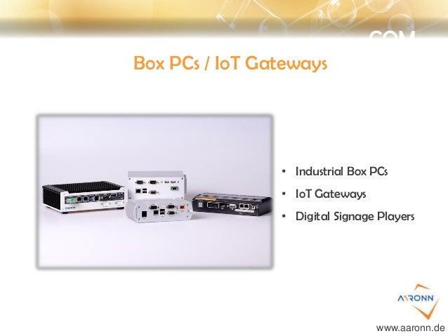 COM Box PCs / IoT Gateways • Industrial Box PCs • IoT Gateways • Digital Signage Players www.aaronn.de