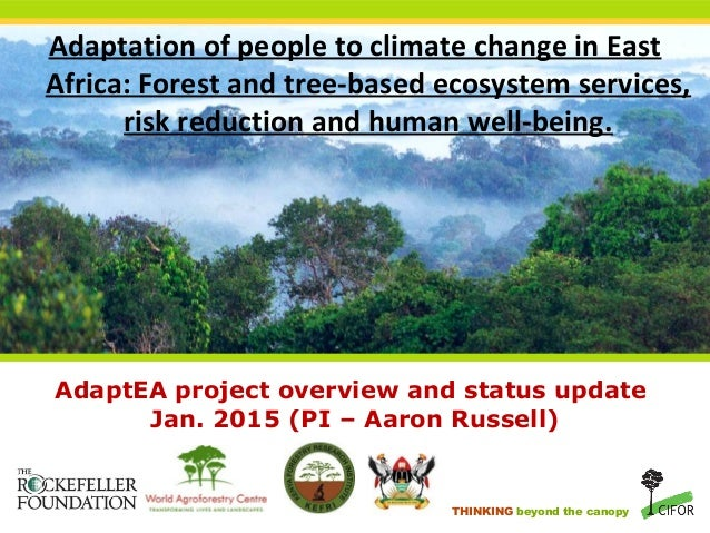 THINKING beyond the canopy AdaptEA project overview and status update Jan. 2015 (PI – Aaron Russell) Adaptation of people ...