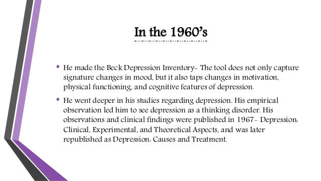 aaron becks view of depression