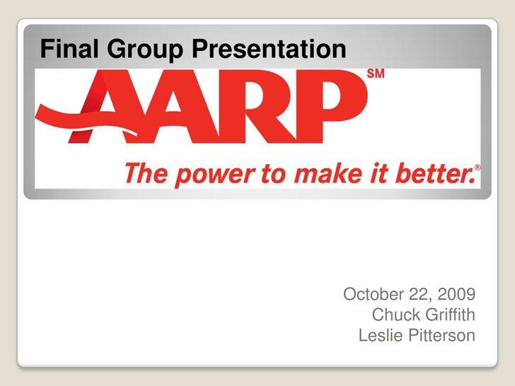 Final Group Presentation<br />October 22, 2009<br />Chuck Griffith<br />Leslie Pitterson<br />