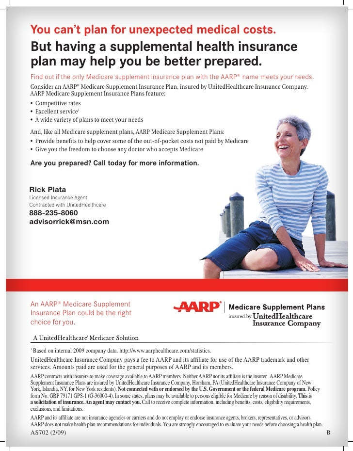 California Aarp Medicare Supplement Plans And Rates