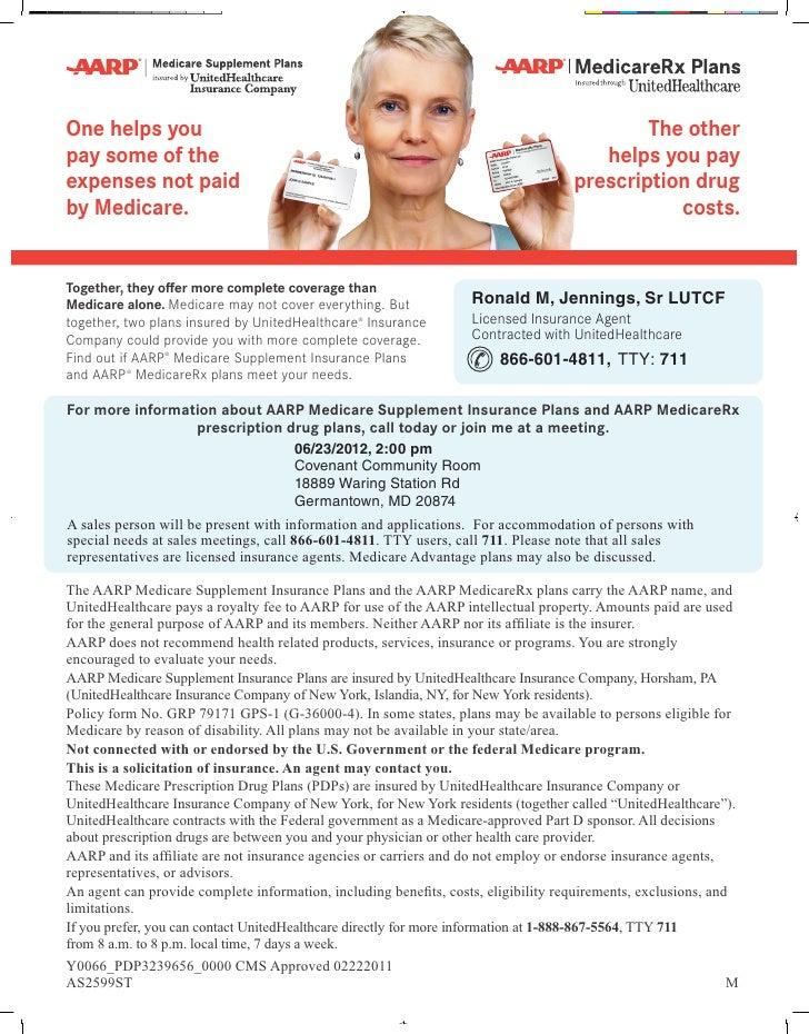 Aarp Pdp Meeting Flyer American