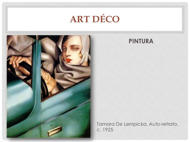 ART DÉCOPINTURATamara De Lempicka, Auto-retrato,c. 1925