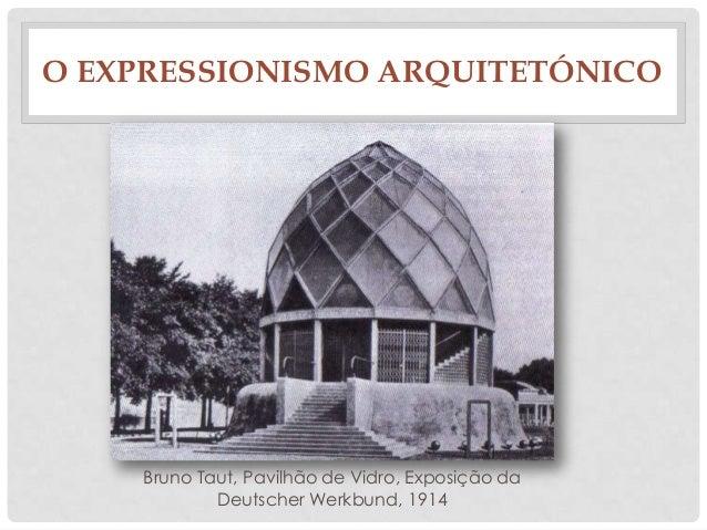 O EXPRESSIONISMO ARQUITETÓNICOBruno Taut, Pavilhão de Vidro, Exposição daDeutscher Werkbund, 1914