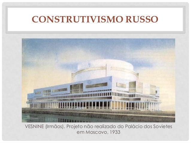 CONSTRUTIVISMO RUSSOVESNINE (Irmãos). Projeto não realizado do Palácio dos Sovietesem Moscovo, 1933