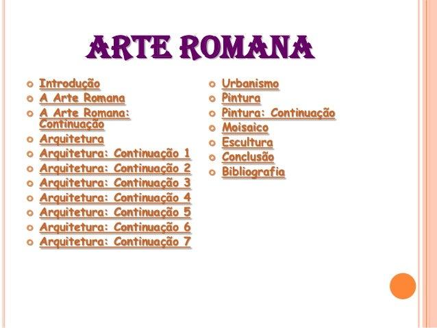 A arte romana  Slide 2