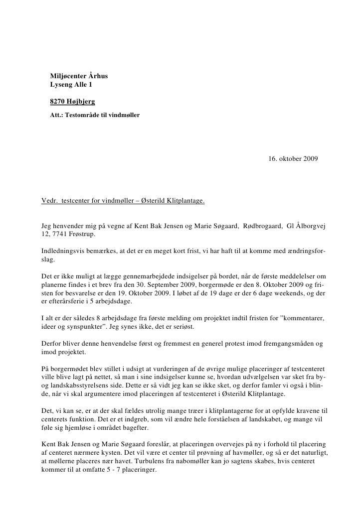 16.10.2009, Kent Bak Jensen: Indsigelse Akt nr. 23, alternativer, støj, logistik Slide 2
