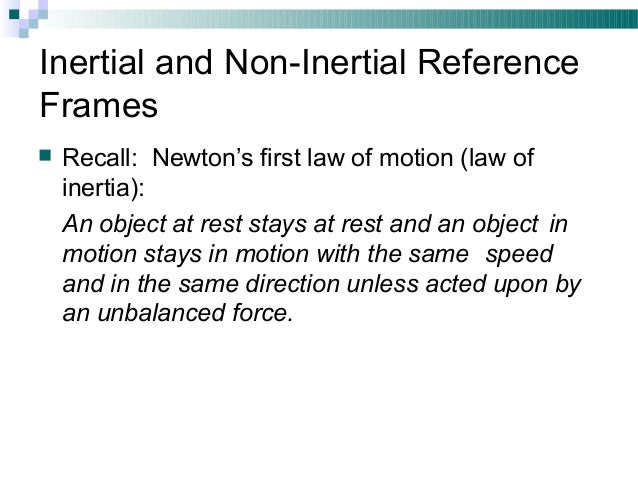 inertial and non inertial frames of reference Aarti panwar BSC I 20…