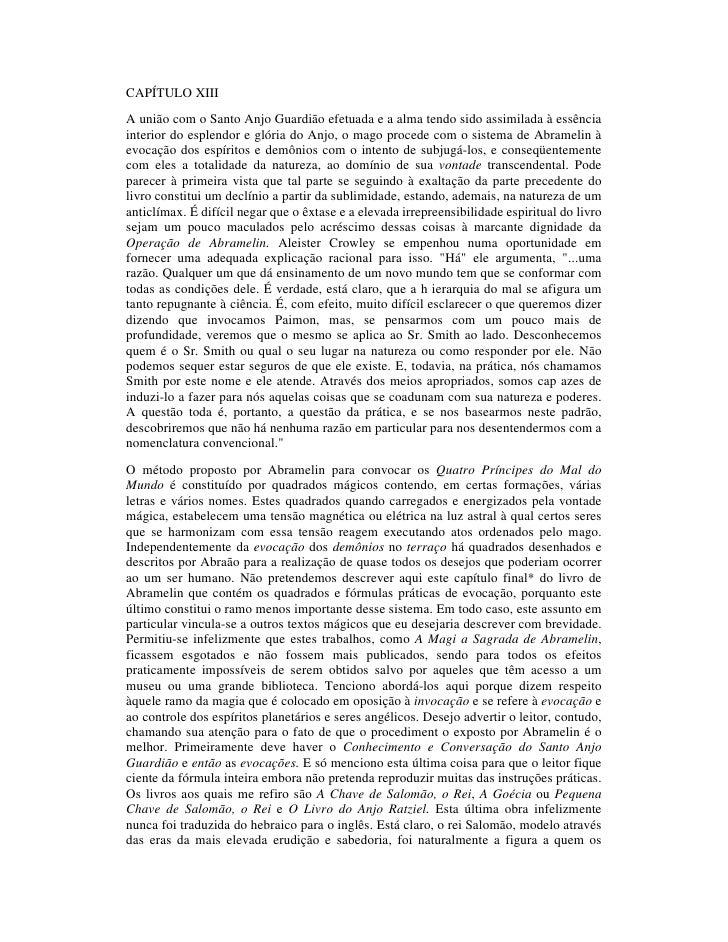 CAPÍTULO XIII A união com o Santo Anjo Guardião efetuada e a alma tendo sido assimilada à essência interior do esplendor e...