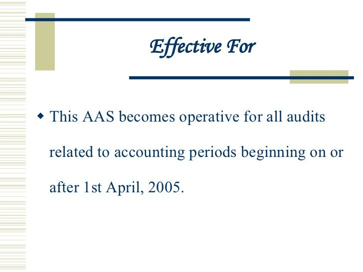 audit and assurance standards Icai - the institute of chartered accountants of india set up by an act of parliament auditing and assurance standards share this page: (aas 1.