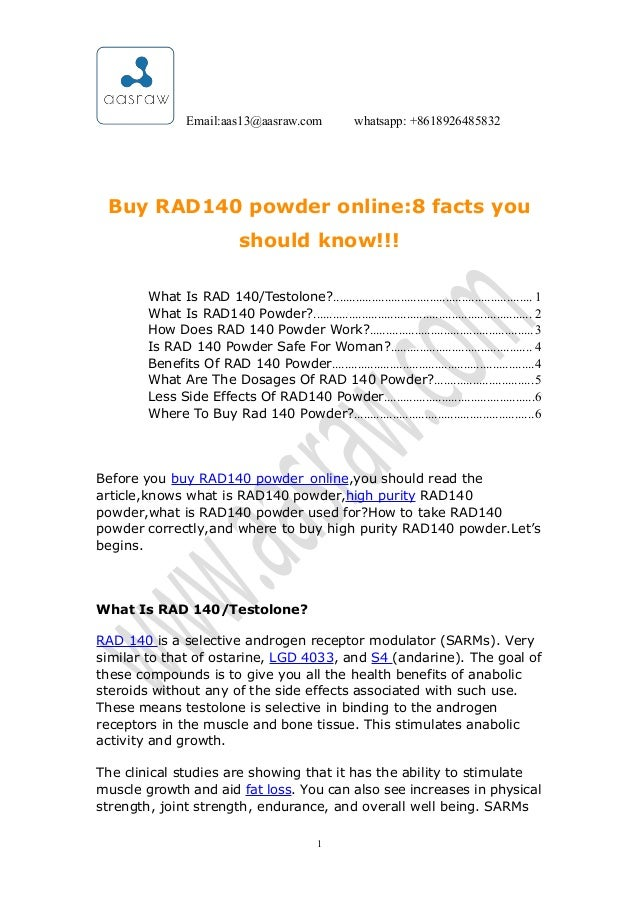 Aas -buy rad140 powder online8 facts you should know!!!