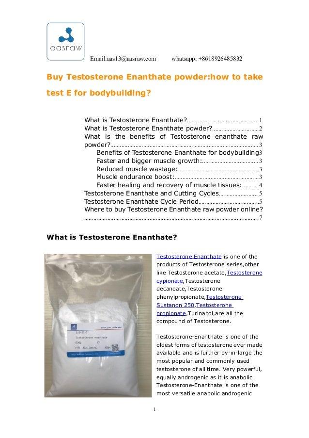 AAS-buy testosterone enanthate powderhow to take test e for