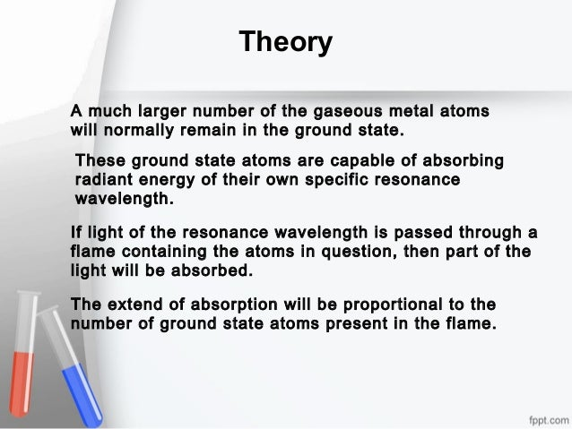 Theory A much larger number of the gaseous metal atoms will normally remain in the ground state. These ground state atoms ...