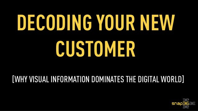 DECODING YOUR NEW CUSTOMER [WHY VISUAL INFORMATION DOMINATES THE DIGITAL WORLD]