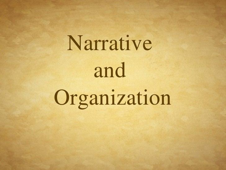 Narrative  and  Organization