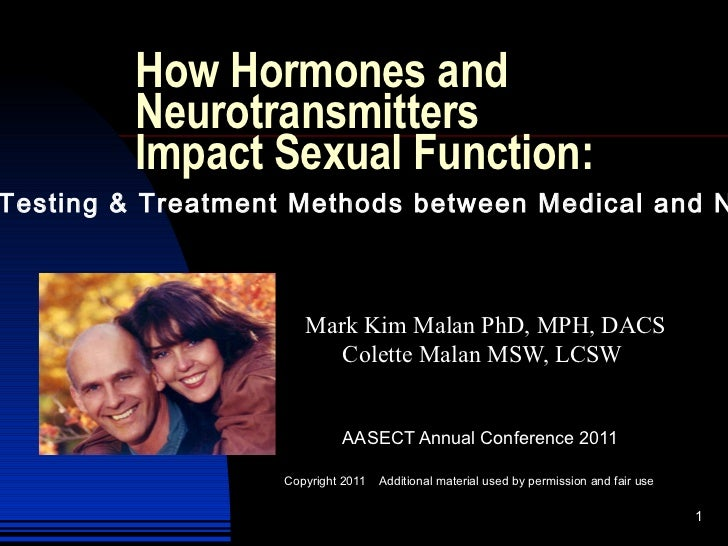 How Hormones and Neurotransmitters  Impact Sexual Function:  <ul>Mark Kim Malan PhD, MPH, DACS <li>Colette Malan MSW, LCSW
