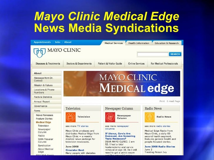marketing analysis mayo clinic This case study of marketing strategy at mayo clinic is like this there is a coordinator doctors named salma iftikhar, md, after i met him, he then entry my entire medical records to the computer.