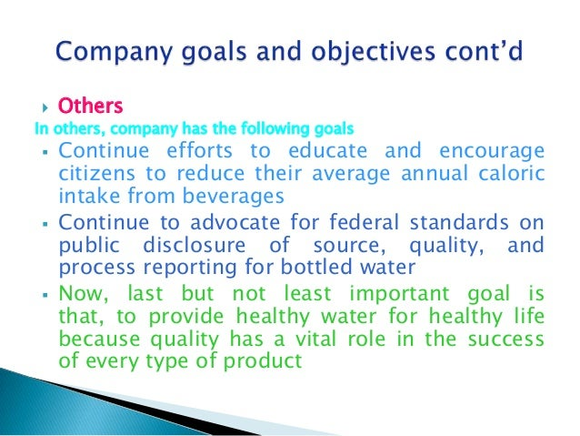 Bottled Water Manufacturer Business Plan