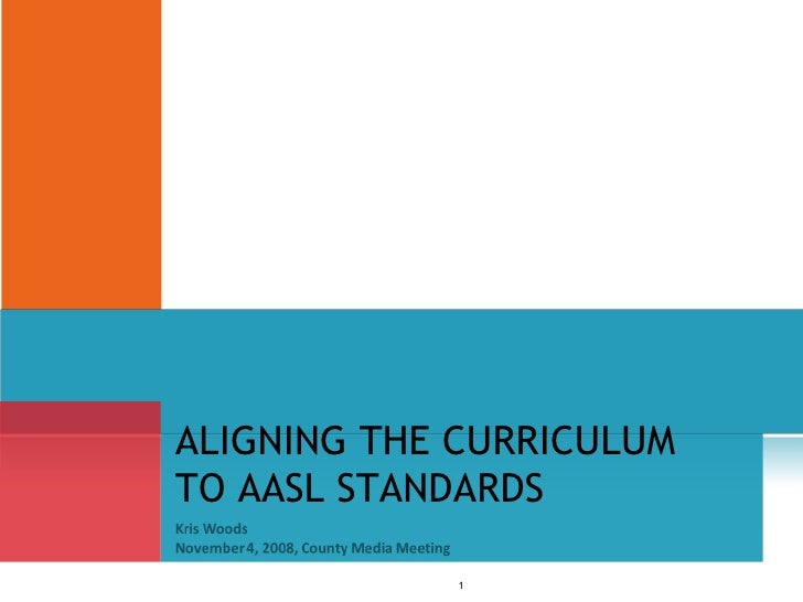 ALIGNING THE CURRICULUM TO AASL STANDARDS
