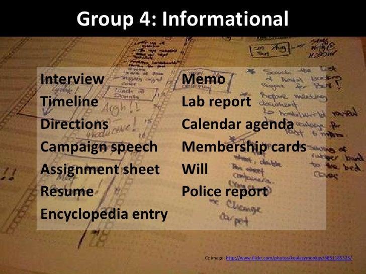 informational interview assignment