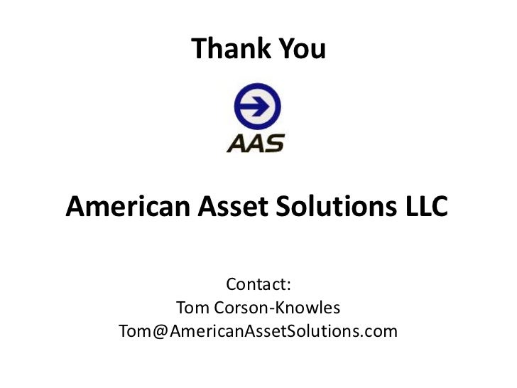 american asset solutions pitch deck