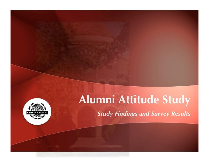 Alumni Attitude Study    Study Findings and Survey Results