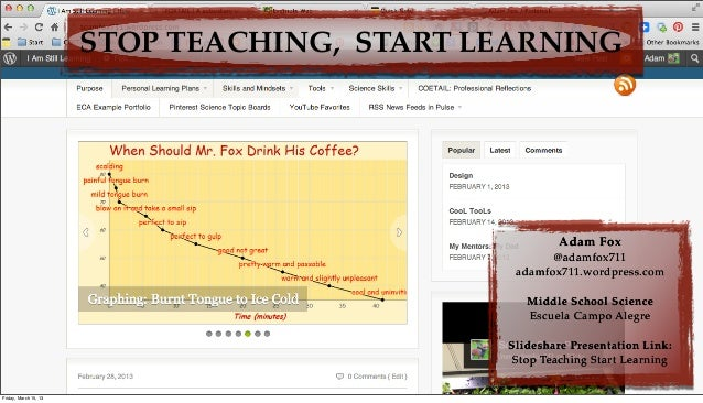 STOP TEACHING, START LEARNING                                                     Adam Fox                                ...