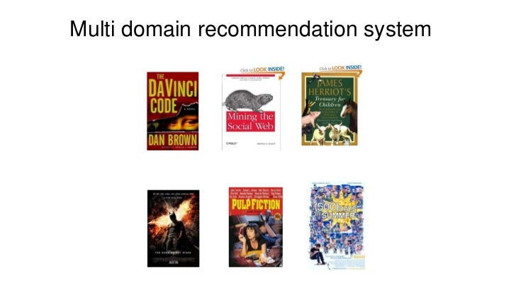 Multi domain recommendation system