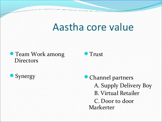 Aastha marketing plan