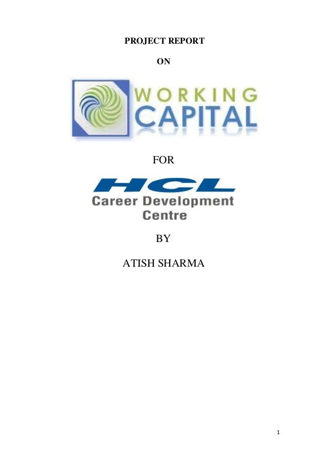1 PROJECT REPORT ON FOR BY ATISH SHARMA