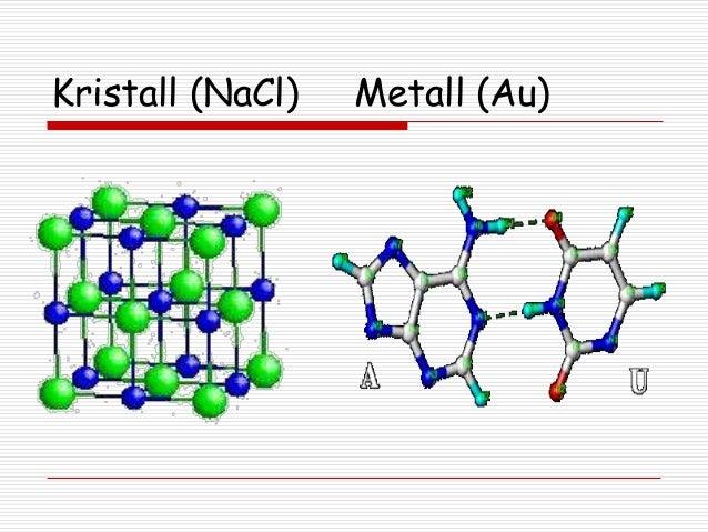 Kristall (NaCl)  Metall (Au)