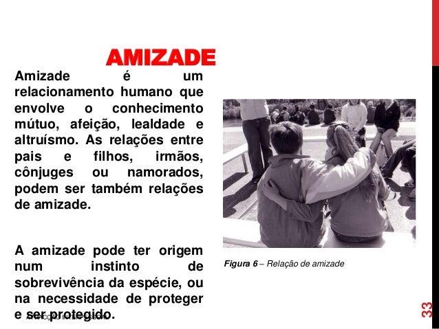 AMIZADE Amizade é um relacionamento humano que envolve o conhecimento mútuo, afeição, lealdade e altruísmo. As relações en...
