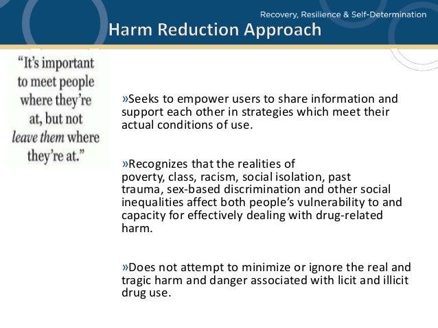 Harm reduction programs