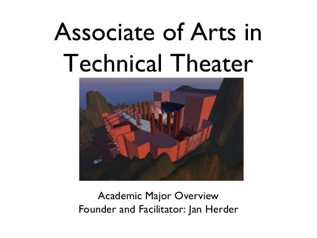 Associate of Arts in Technical Theater  Academic Major Overview Founder and Facilitator: Jan Herder