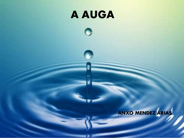 A AUGA ANXO MENDEZ ARIAS