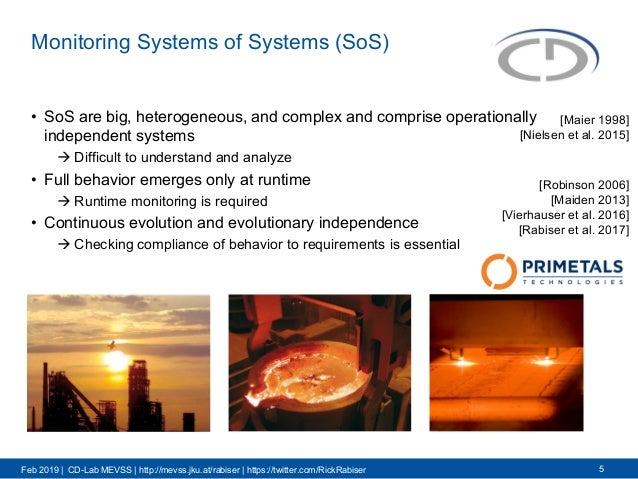 Feb 2019 | CD-Lab MEVSS | http://mevss.jku.at/rabiser | https://twitter.com/RickRabiser Monitoring Systems of Systems (SoS...