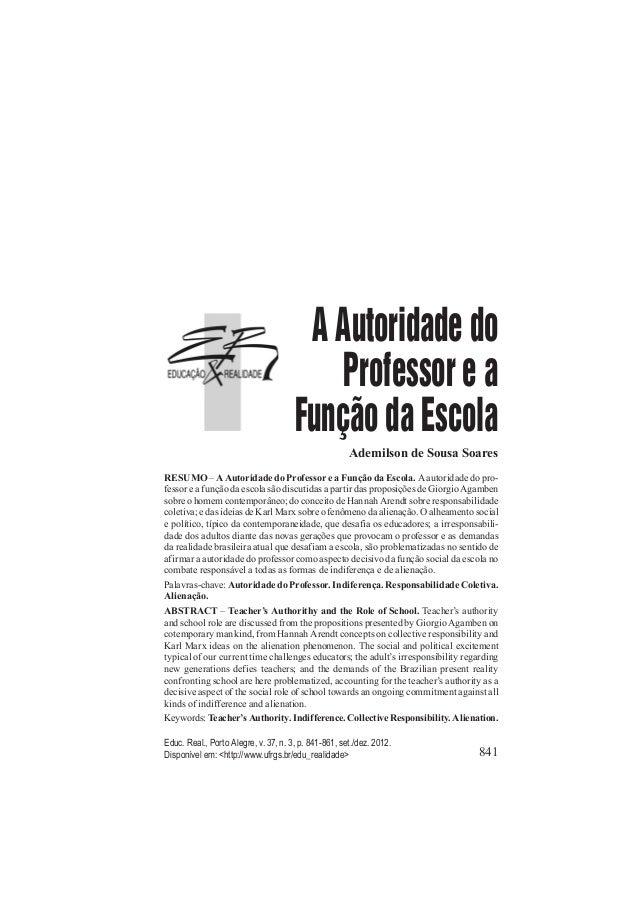 841 Educ. Real., Porto Alegre, v. 37, n. 3, p. 841-861, set./dez. 2012. Disponível em: <http://www.ufrgs.br/edu_realidade>...