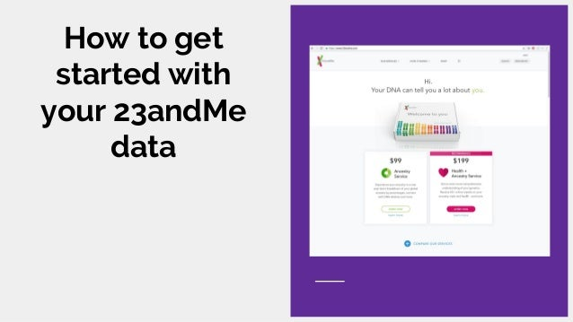 DNA? — an exploration of 23andMe for health