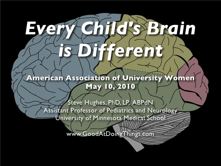 Every Child's Brain    is Different American Association of University Women              May 10, 2010               Steve...